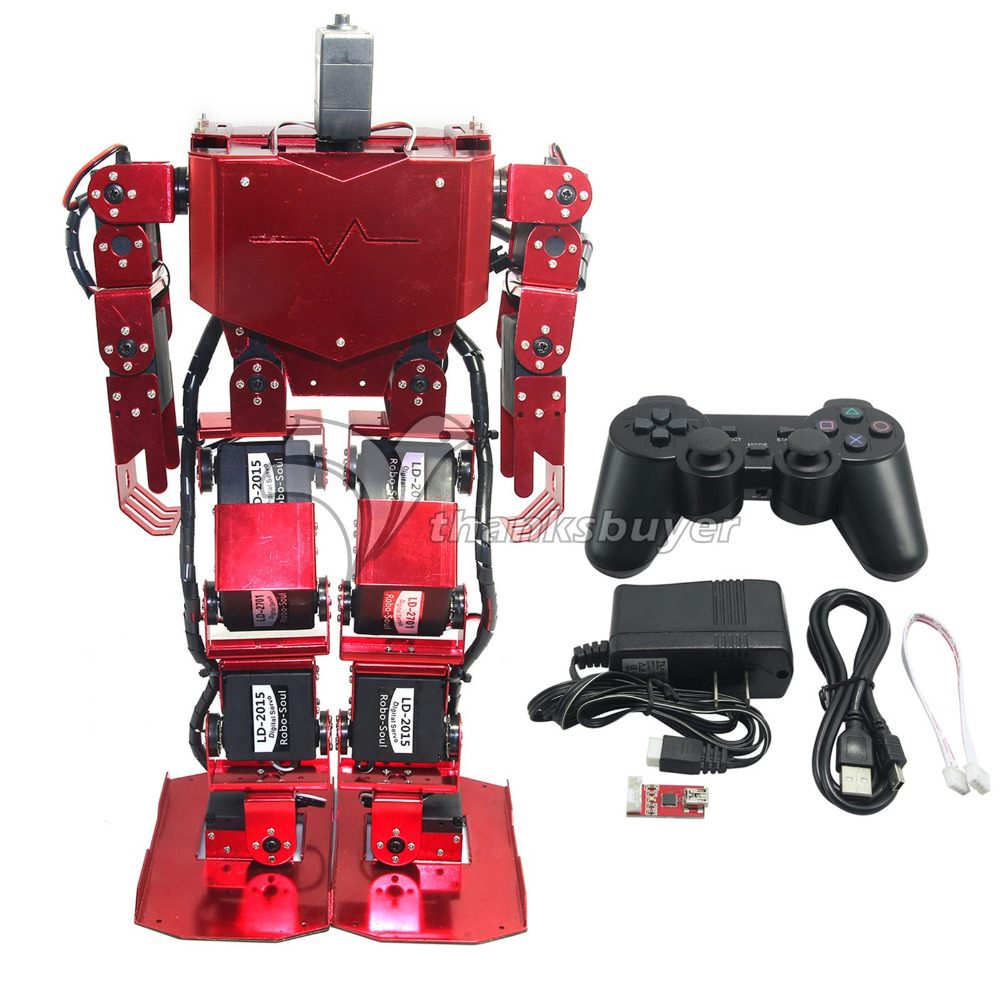 17DOF Robo-Soul H3.0 Biped Robotics Humanoid Robot Aluminum Frame Full Kit w/ 17pcs Servo + Controller new 17 degrees of freedom humanoid robot saibov6 teaching and research biped robot platform model no electronic control system