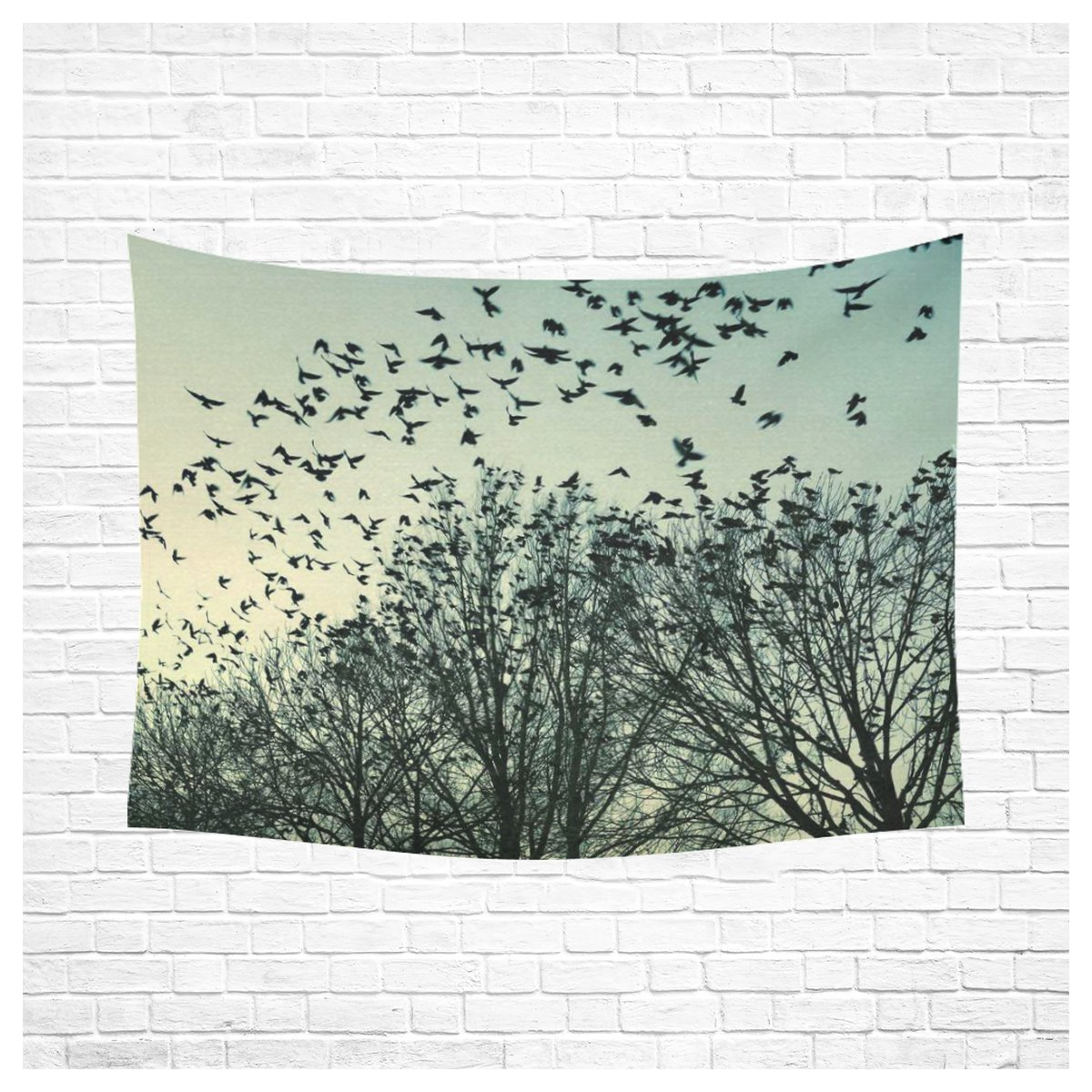 Tree of Life Wall Art Home Decor, Birch Branche for Bird Tapestry Wall Hanging Art Sets