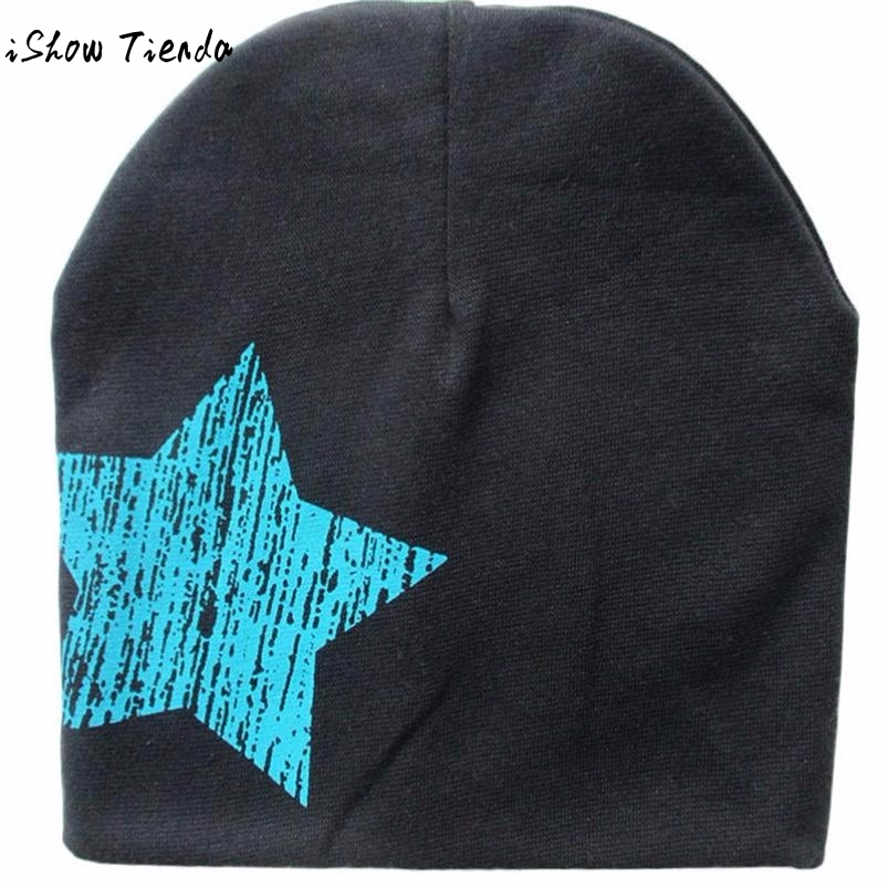 Baby Hat Five-pointed Star Printed Baby Beanie Cotton Knitted Winter Hats Capacete Infantil