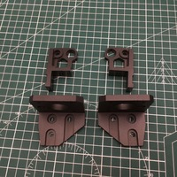 1set black Anodized Aluminum Prusa i3 MK3 bear z axis left/right motor mounts bottom Z top right/left upgrade kit