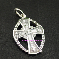 Import Thai silver * Catholic religious subjects 925 sterling silver cross pendant