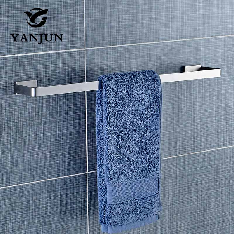 Single Towel Bar Porte Serviette Brushed Wall Mounted towel rail Towel Hanger Towel Rack Bathroom Accessories Yanjun YJ-81924 цена