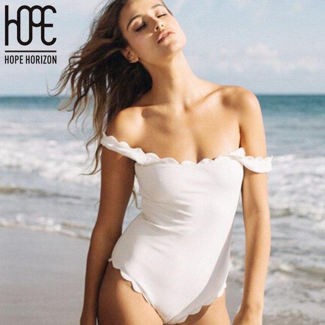 6313adbc5f09d One Piece Low Cut Sexy Swimsuit Women Bikini Suit Retro Halter Woman Plus  Size Bikinis Bare back Bquini Bathing Suit Swimwear