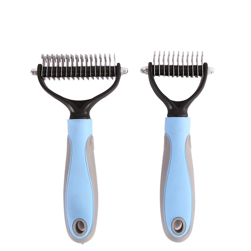 New Stainless Double sided Pet Cat Dog Comb Brush Pet Fur Knot Cutter Remove Rake Grooming Shedding Rake Grooming Products in Cat Grooming from Home Garden