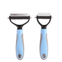 New Stainless Double-sided Pet Cat Dog Comb Brush Fur Knot Cutter Remove Rake Grooming Shedding Products