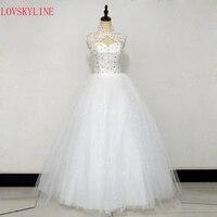 Bandage Lace Up Double Shoulder 2016 Bride Plus Size Wedding Dress Slit Neckline Slim Vestido De