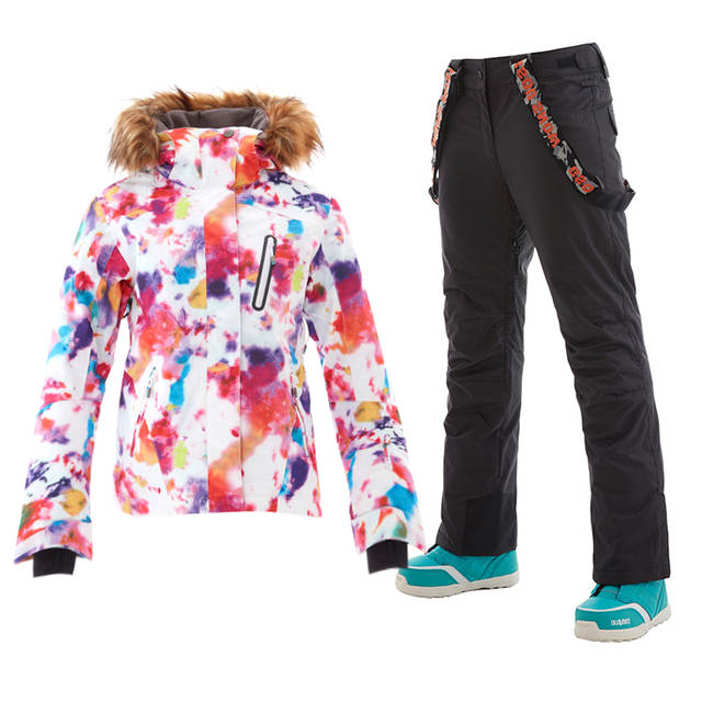 99d7af7b01 Online Shop Gsou Winter Colorful Womens Ski Suits Snowboard Jacket Snow  Pants Ski Suit Female Warm Waterproof Skiing Clothing