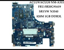 Alta calidad nuevo para Lenovo G50 30 portátil placa base ACLU9/ACLU0 NM A311 FRU: 5B20G91619 SR1YW N3540 DDR3 820 M 1 GB totalmente