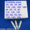 50pcs Disposable Tattoo Tips Nozzle Round Flat Diamond U pick size Supply WSDT-A-50