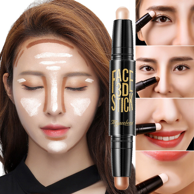 Lady Facial Highlight Foundation Base Contour Stick Beauty Make Up Face Powder Cream Shimmer Concealer Camouflage Pen Makeup