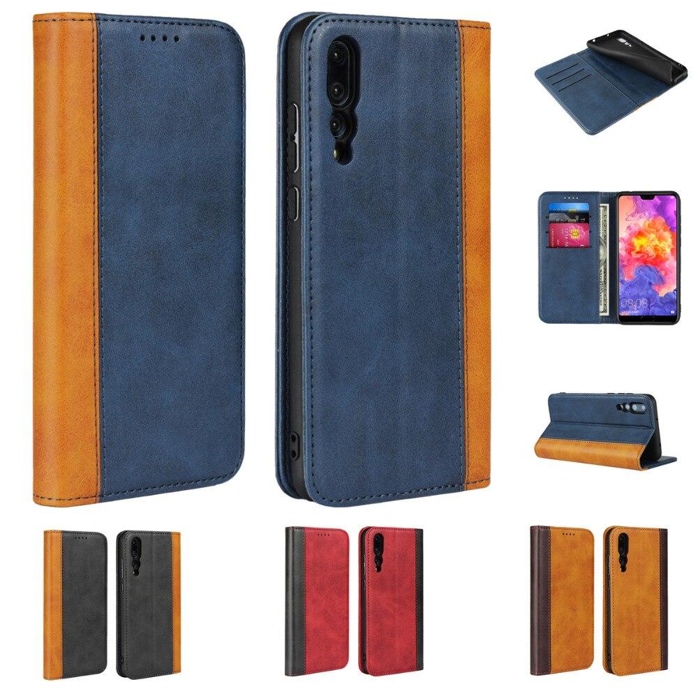 Etui Case For Huawei P20 Lite Pro P Smart Cases Luxury Flip Wallet Genuine Leather Magnetic P20 Lite Funda Cover Coque Capinha