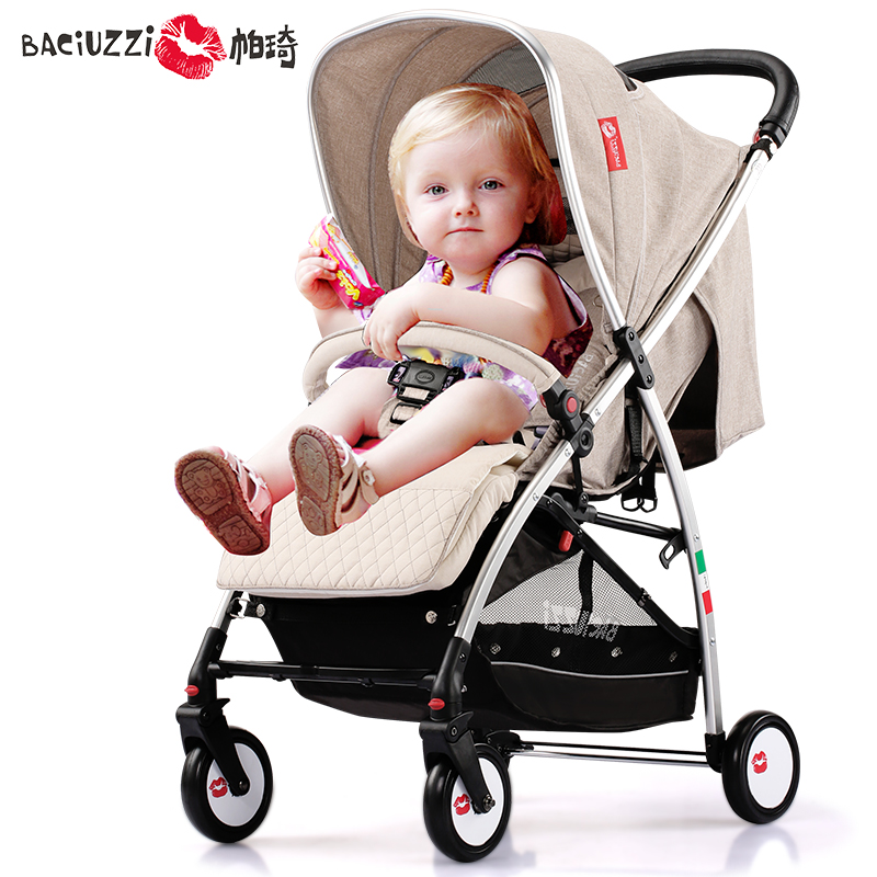 Fashion Folding Baby Stroller Pram Highview Pushchair For 0 36 Months Baby Sitting Lying