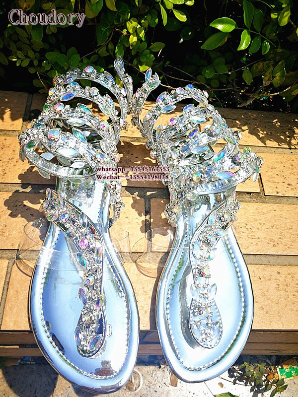 plus size sexy Rhinestone sandals woman Crystal Gladiator Sandal women Knee High boots Snake Punk Flat Women Summer Shoes summer women sandals open toe rhinestone lady designer gladiator sandal boots shinny bridal wedding shoes snake style sandals