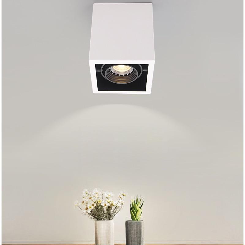 LED Ceiling Lights Single spot LED lamps illumination 10W led ceiling light Square lamp body decorations