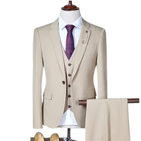 2019 Men's Business Three piece Suits Wedding Dress / male Slim fits blazers jacket coat pants trousers S 4XL