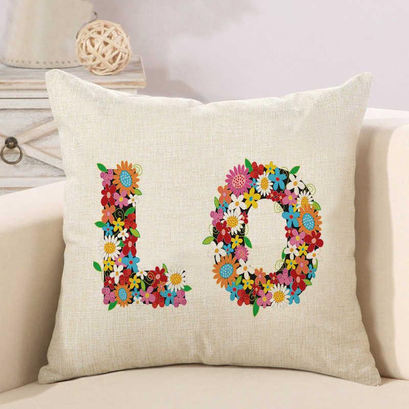 alphabet animal flower high heels letter cushion cover (6)