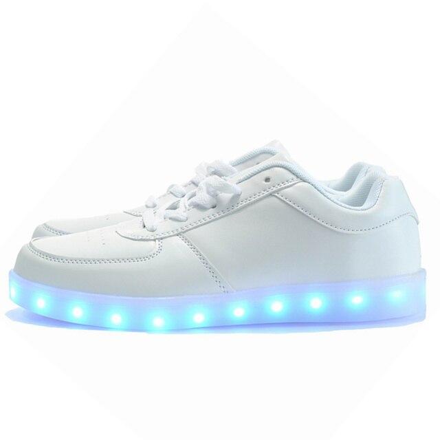 7 ipupas 2017 Мода корзины Привело обувь для взрослых Мужчин Унисекс световой загораются обувь для взрослых светящиеся chaussure led Обувь Femme
