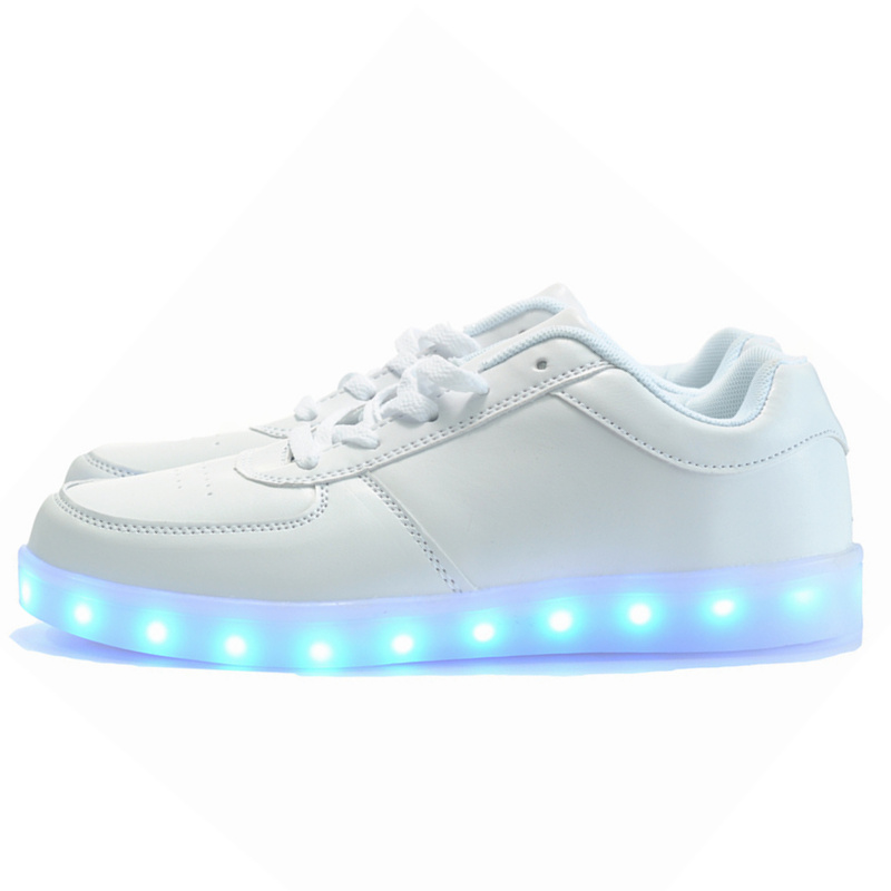 7ipupas 2017 Fashion basket Led font b shoes b font for adults Men Unisex Luminous light