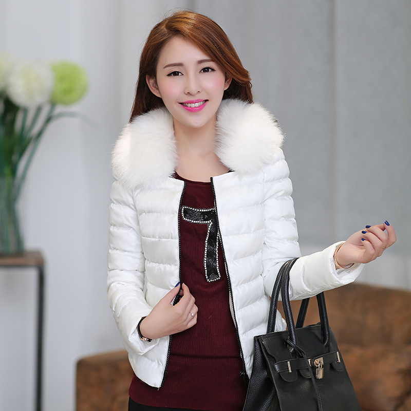 Winter plus size thermal wool collar coat women's wadded jacket cotton-padded - bingwen chen's store