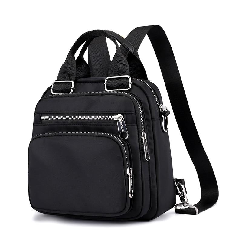 Women Nylon Backpack Waterproof Female Designer Shoulder Bag Cartoon Printing Rucksack Mini Casual  Bagpack Sac A Main  Girl Bag