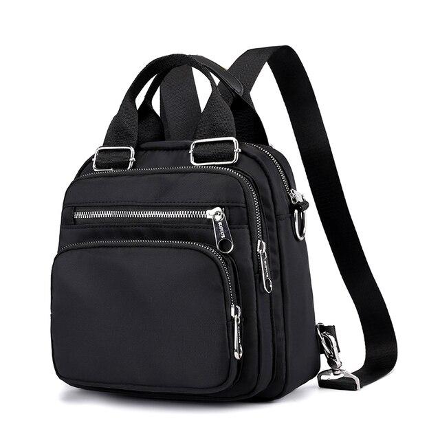 여성 나일론 배낭 방수 여성 디자이너 어깨 가방 만화 인쇄 배낭 미니 캐주얼 bagpack sac 주요 소녀 가방