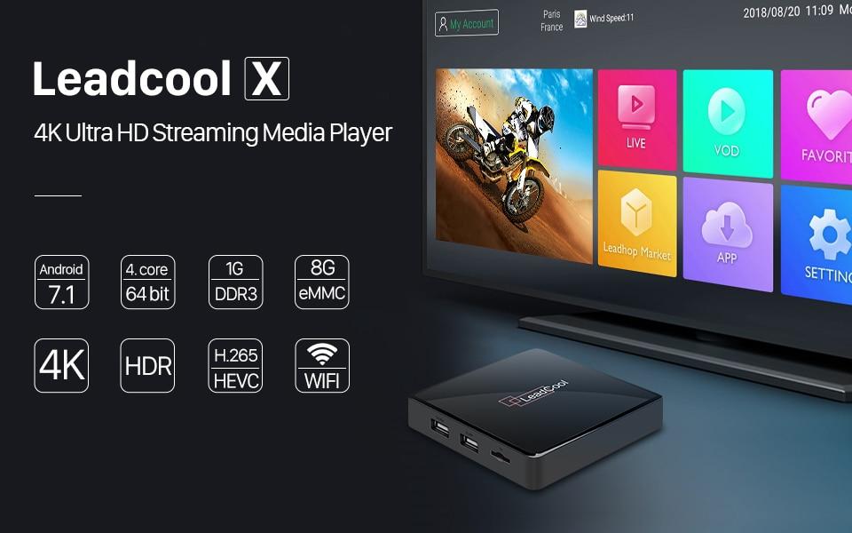 4K IPTV France Belgium Android 7.1 Leadcool X Smart SUBTV IPTV Box 1G 8G S905W WIFI 1 Year Code IPTV Italy Spain Arabic UK IP TV (1)