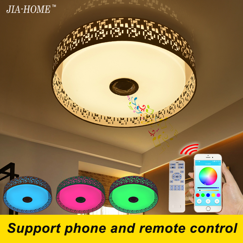 RGB Dimmer led lamp for ceiling with phone APP speaker or remote control dome acrylic 36W ceiling light fixtures flush mount black and white round lamp modern led light remote control dimmer ceiling lighting home fixtures