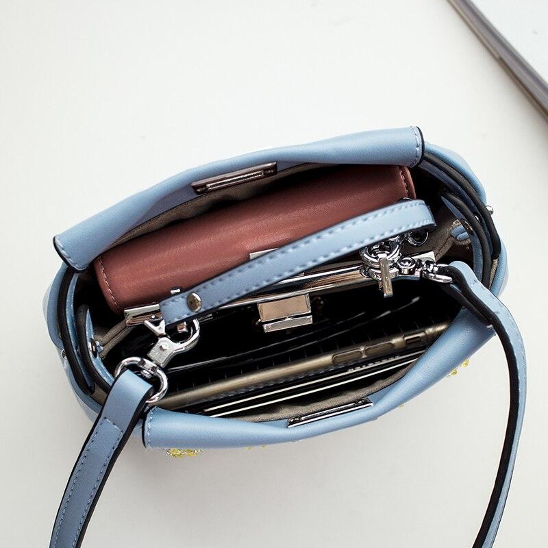 2017 moda homensageiro bolsa frisado Formato : Peekaboo Bag