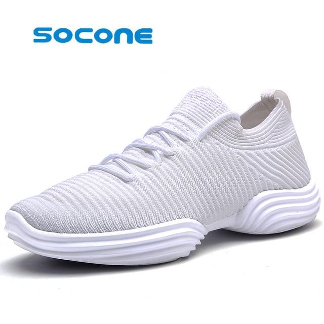574e5fd9c6 2017 seção quente dos homens correndo sapatos calçados esportivos luz  elástico voando tecnologia agulha Super confortável