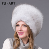 Winter Unisex Fox Fur Hat Sheepskin Hat Fox Raccoon Fur Hat Muticolors Ladies Winter Headgear Russian