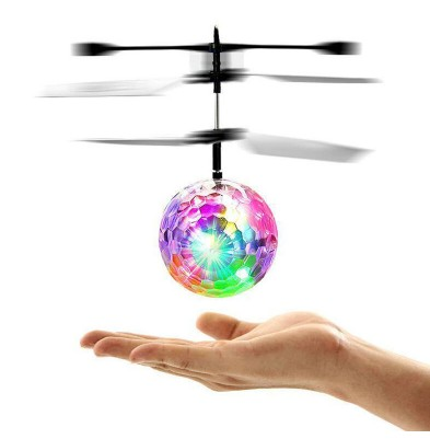 Infrared Induction Flash Flying Ball Colorful LED Disco RC Helicopter Toy MT