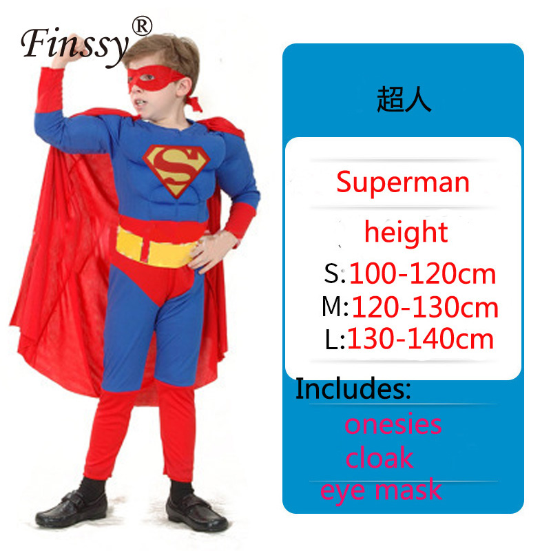 Superhero Avengers Superman Muscle Cosplay Onesies Halloween Carnival Holiday Party Costume Very Cool Birthday Present for Kids