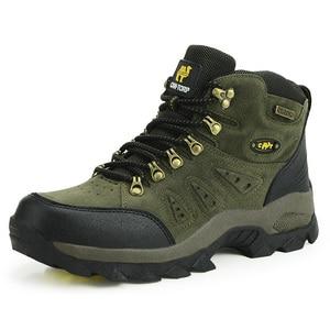 Image 2 - Bjakin 방수 남성 하이킹 신발 가을 겨울 등산 부츠 하이 탑 트레킹 사냥 신발 트레이너 고무 유니섹스