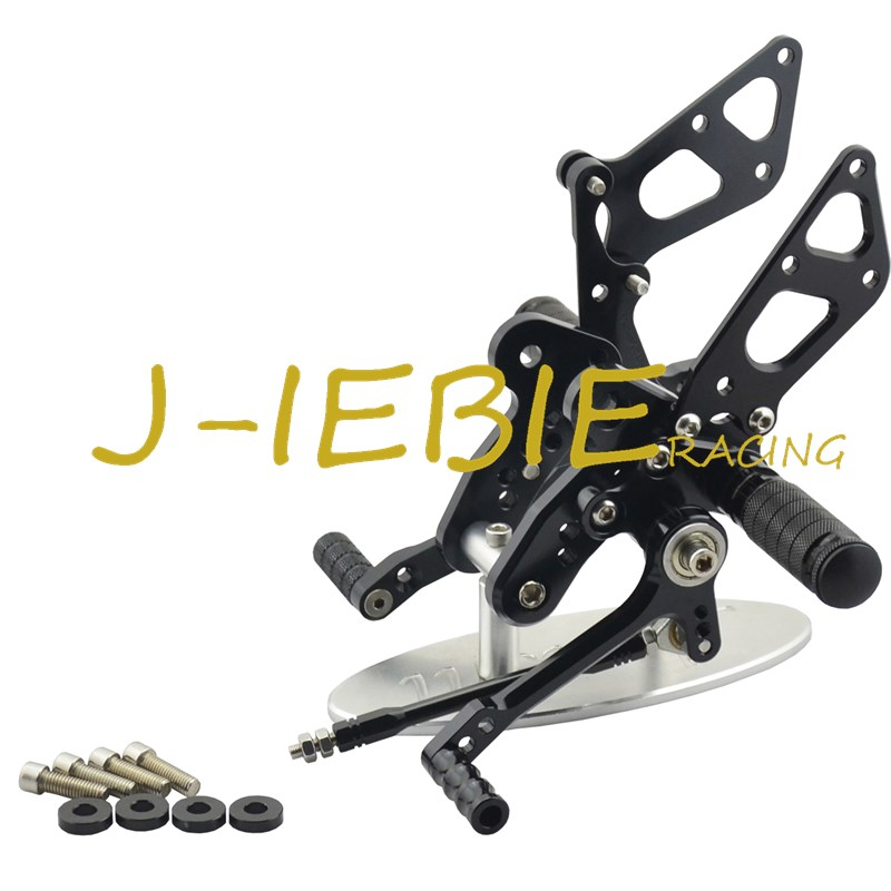 CNC Racing Rearset Adjustable Rear Sets Foot pegs Fit For Suzuki GSXR1300 Hayabusa 1999-2016 BLACK titanium cnc aluminum racing adjustable rearset foot pegs rear sets for yamaha mt 07 fz 07 mt07 fz07 2013 2014 2015 2016
