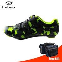 TIEBAO Road Radfahren Schuhe 2019 Männer Nylon Bike Schuhe Self Locking Pro Fahrrad Lock Schuhe Turnschuhe Zapatillas Ciclismo Leichtathletik-in Fahrradschuhe aus Sport und Unterhaltung bei