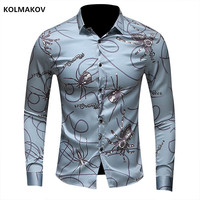 2018 Spring Autumn Features Shirts Men Casual Jeans Shirt New Arrival Long Sleeve Casual Slim Fit