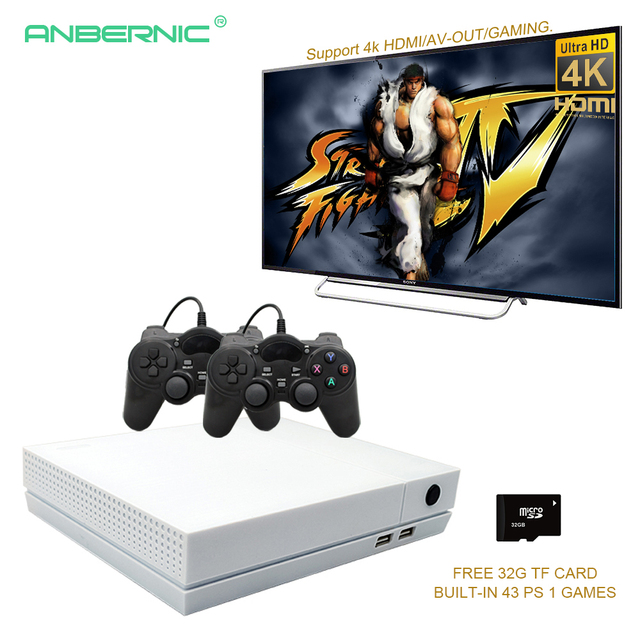 Retro Mini Video Game Console Support 4K HDMI Output 64 Bit 800 Classical Games for PS1/GBA with 32G TF Card HD GAME 85