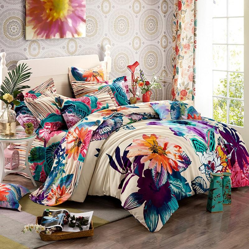 Aliexpress.com : Buy Luxury Boho bedding set 500TC Cotton 5pcs ...