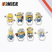 Socket Universal Metal Finger Ring Mobile Cell Phone Cute Cartoon phone Holder stand For iPhone 5 6s 7 8 plus X XS Bracke holder