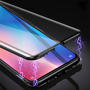 Image 2 - 360 Magnetic Adsorption Metal Case for Xiaomi mi 9 Transparent Shockproof Tempered Glass Cover for Xiaomi mi 9 se mi 9t Case