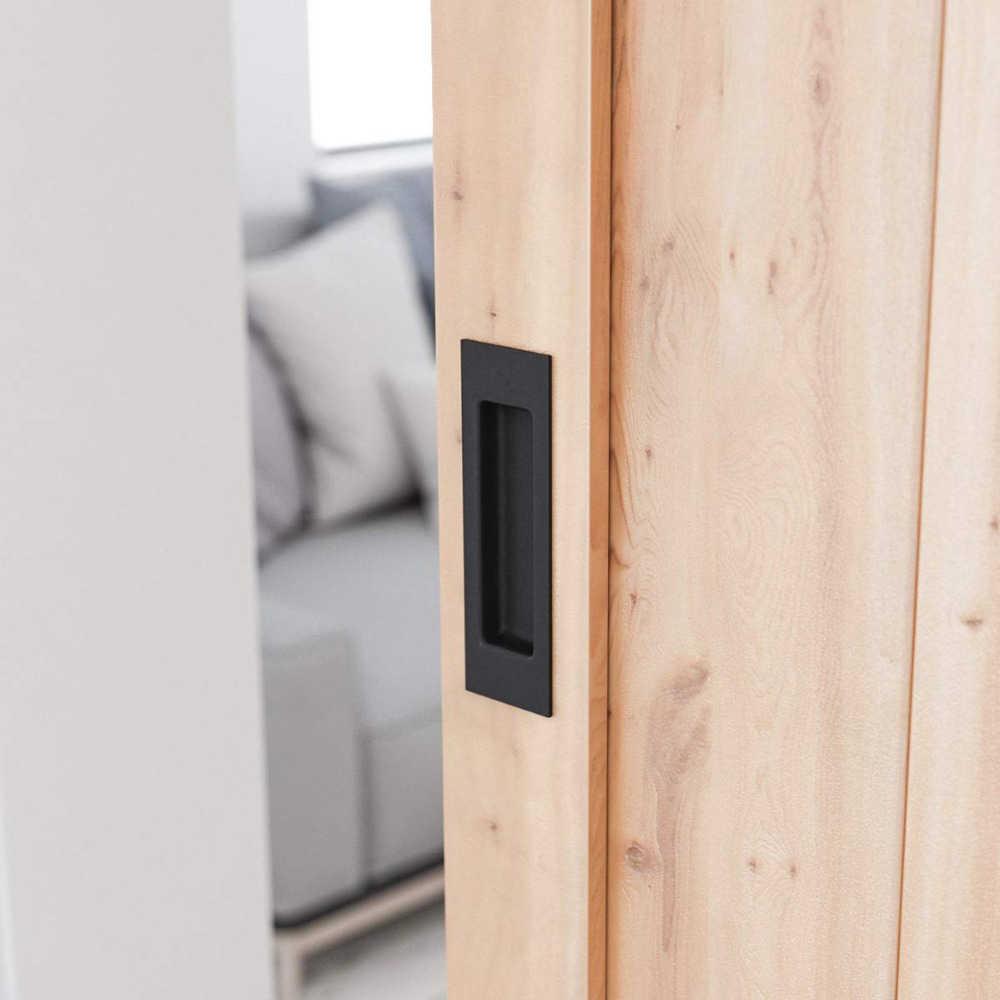GLCS GLAUCUS 2pcs Tiradors Puertas Negro Tirador Puerta Corredera Interior Exterior Manijas para puerta madera de Granero Garaje Armario