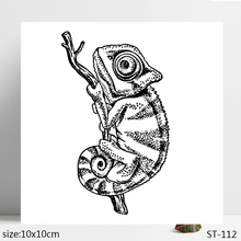 ZhuoAng Chameleon Lizard Clear Stamps/Seals For DIY Scrapbooking/Card Making/Album Decorative Silicon Stamp Crafts zhuoang intense word heart shaped clear stamps seals for diy scrapbooking card making album decorative silicon stamp crafts