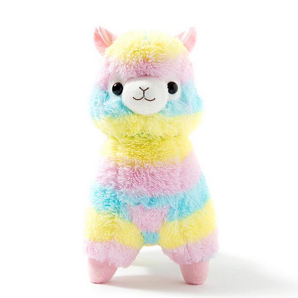 1pc 17cm Rainbow Alpaca Vicugna Pacos Plush Toy Japanese Soft Plush Alpacasso Baby Stuffed Animals Alpaca Gifts lovely 35cm rainbow alpaca vicugna pacos lama arpakasso alpacasso stuffed plush doll toy kid gift