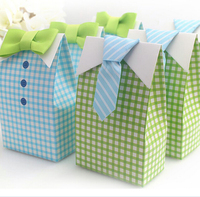 Romantic Favor Box Decoration Blue Green Baby Shower Lover Party Sweet Packaging Wedding Gifts And Favors Bag Box For Guest