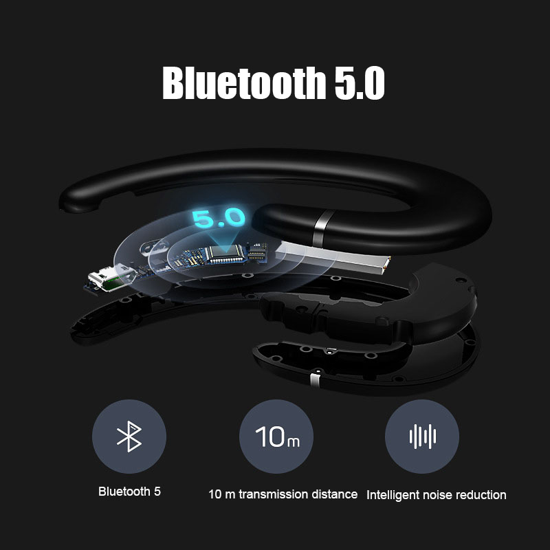 2018 new TWS TWO EAR IPX5 Waterproof and sweat resistant wireless Bluetooth5.0 Bone conduction headset with mic for phone