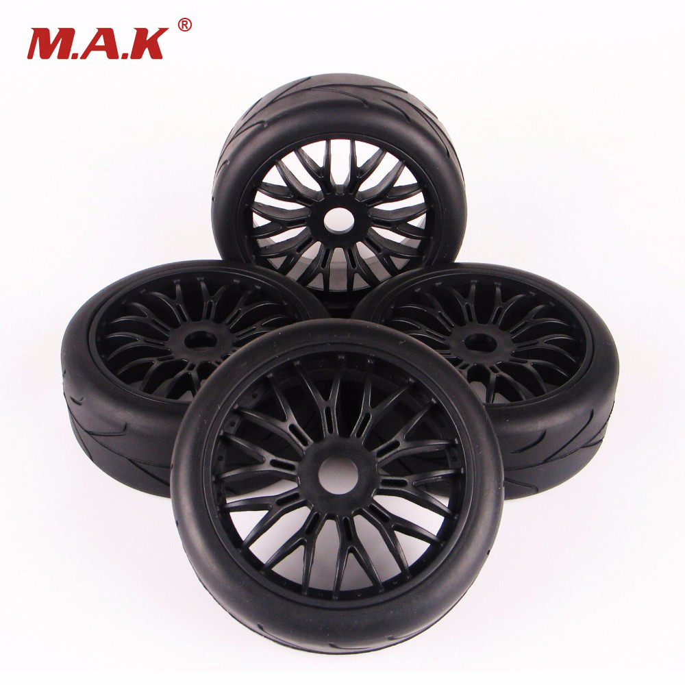 1/8 Scale Car Off-Road Rubber Tires And Wheel Rim Model Toys  For HPI HSP Traxxas RC Car Buggy Toys Accessory plastic front rear wheel rim tire for rc car 1 10 buggy off road car hsp himoto hpi traxxas redcat 06008 06101 06024 06102