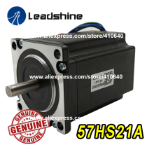GENUINE Leadshine NEMA23 Stepper Motor 57HS21A 8mm Shaft 5A 2.1 N.M Torque 76mm Length 4 Wires Matching With Stepper Drive DM542 leadshine network drives dm3e 556 series ethercat stepper drives with coe and cia 402 protocols control stepper motor nema23 24