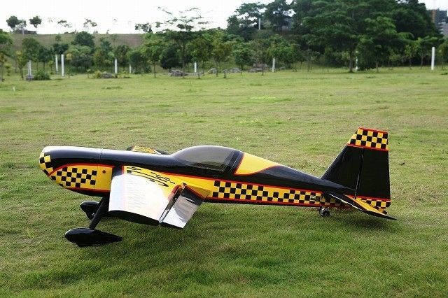 1PCS 86.7in/2204mm Extra260 50cc Engine RC Plane Model ARF E02 YELLOW in US new phoenix 11207 b777 300er pk gii 1 400 skyteam aviation indonesia commercial jetliners plane model hobby