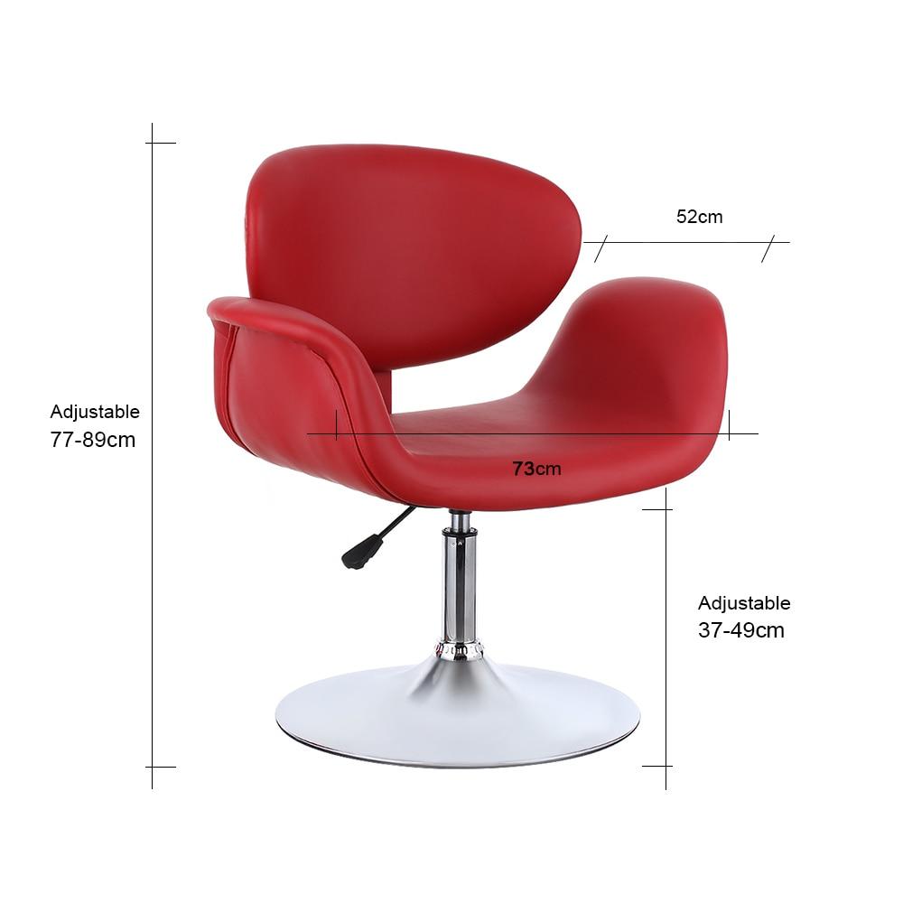 IKayaa NOUS Stock Moderne Ergonomique PU En Cuir Salon De Coiffure Chaise Tabouret Rembourre Pneumatique Haidresser Meubles Dans