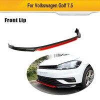 Para VW Volkswagen Golf 7.5 Padrão 4-Porta Hatchback 2018 2019 PP Preto Branco Vermelho Pintado Front Bumper Lip divisores